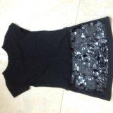 Маленькое черное платье zara на 4-5 лет. Фото 2.