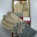 Вязанные перчатки для тачскринов. Фото 1.