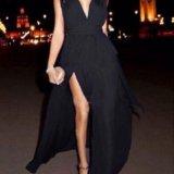 Вечернее платье в пол невесомый шифон. Фото 1.