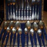 Мельхиоровый комплект столовых приборов. Фото 4.