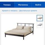 Кровать икеа с матрасом и реечным дном!. Фото 1.