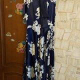 Платье атласное длинное 50.52. Фото 1.