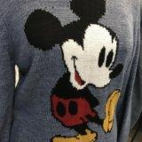 Тёплый новый свитер с микки турция. Фото 2.