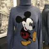 Тёплый новый свитер с микки турция. Фото 1.