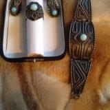 Гарнитур: серьги, кольцо, браслет. Фото 2. Москва.
