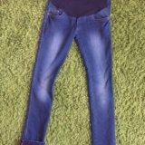 Утеплённые джинсы для беременных , размер 42-44. Фото 1.
