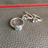 Кольцо и серьги серебро. Фото 1.