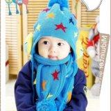 Новая детская шапка с шарфом. Фото 1. Фрязино.
