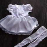 Платье нарядное + колготки новое. Фото 1. Омск.