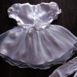 Платье нарядное + колготки новое. Фото 3. Омск.