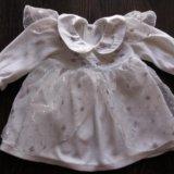 Платье нарядное для малышки, размер 68/74. Фото 1.