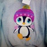 Джемпер теплый с пингвином новый. Фото 1.
