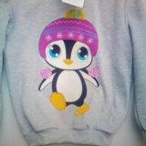 Джемпер теплый с пингвином новый. Фото 2.