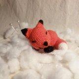 Амигуруми спящий лисенок. Фото 1.