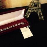 Новый мужской серебряный браслет. Фото 1.