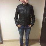 Новая кожаная куртка женская 46-48. Фото 1. Москва.