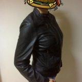 Новая кожаная куртка женская 46-48. Фото 2. Москва.