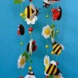 Игрушки из фетра на мобили, объемные буквы. Фото 3.