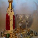 Праздничный чехол на шампанское. Фото 1. Новозыбков.