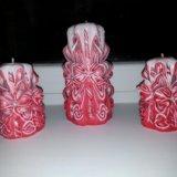 Резные свечи. Фото 1.