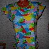Яркая футболка качественный трикотаж. Фото 2.