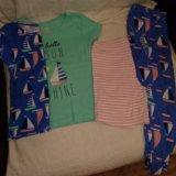 92-104 3-4г пижама для девочки carters сша. Фото 1.