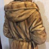 Норковая шуба длинная в пол, luini, италия. Фото 3. Люберцы.