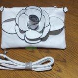 Сумочка сумка белая с цветочком. Фото 1.