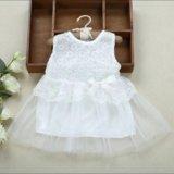 Нарядное белое новое платье. Фото 1. Химки.