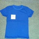 Новая однотонная футболка, 104-110. Фото 1. Москва.