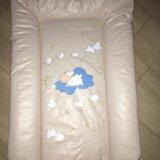 Матрасик для пеленания и клеёнка непромокаемая. Фото 1.