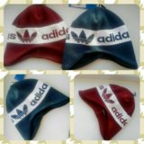 Новые шапки на флисе adidas. Фото 1. Обнинск.