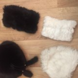 Комплект шарф шапка из натурального меха. Фото 1.