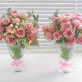 Топиарии,цветочные композиции. Фото 1.