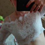 Свадебная накидка на платье. Фото 2.