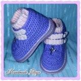 Вязанные ботиночки. Фото 3.