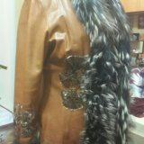 Куртка с мех чернобур. кожаная(натуральная)женская. Фото 4.