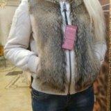 Куртка новая натур.кожа с мехом. Фото 4.
