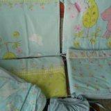 Комплект постельных принадлежностей для детской кр. Фото 1.