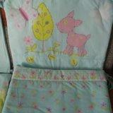 Комплект постельных принадлежностей для детской кр. Фото 2.