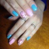 Маникюр, шеллак, наращивание ногтей, дизайн. Фото 1.