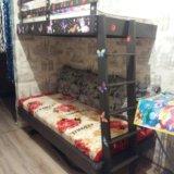 Двухъярусная кровать с матрасами . Фото 2.