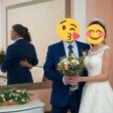 Свадебное платье + корона ручной работы!+ бонус!. Фото 3.