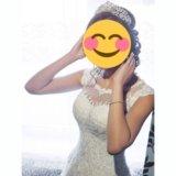 Свадебное платье + корона ручной работы!+ бонус!. Фото 1.