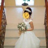 Свадебное платье + корона ручной работы!+ бонус!. Фото 2.