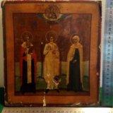 """001-156 икона """"святые кирилл равным образом ирина"""". Фото 0."""