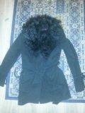 Пальто с мехом 44р. Фото 1.