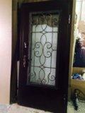 Срочно стальная дверь со стеклопакетом. Фото 3.
