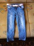 Джинсы для девочки takko (110р). Фото 1.