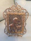 Икона серебрянная. Фото 1.